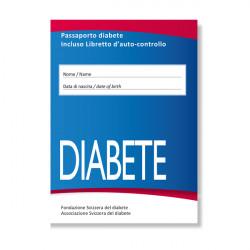 Passaporto diabete incluso libretto d'auto-controllo