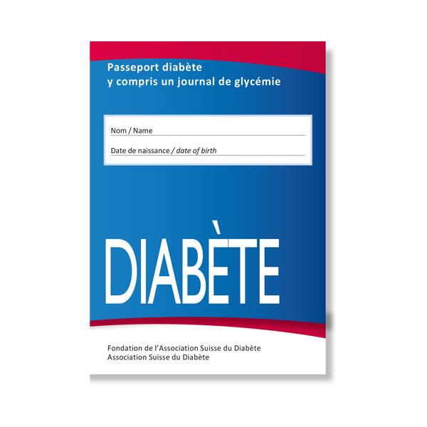 Passeport diabète y compris un journal de glycémie