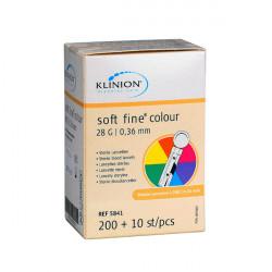 Klinion® soft fine® colour 28 G - Lanzetten