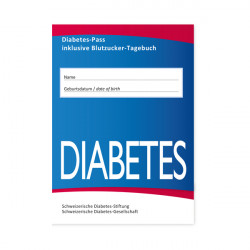Diabetes-Pass inklusive Blutzucker-Tagebuch