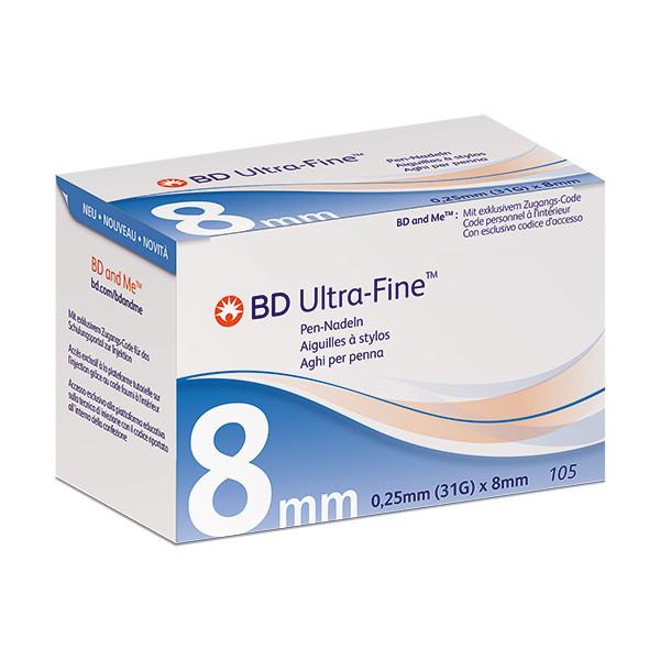 BD Ultra-Fine™+ 31 G, 8 mm - Pen-Nadeln