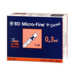 BD Micro-Fine™+ 0.3/8 - seringues