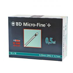 BD Micro-Fine™+ 0.5/12,7 - seringues